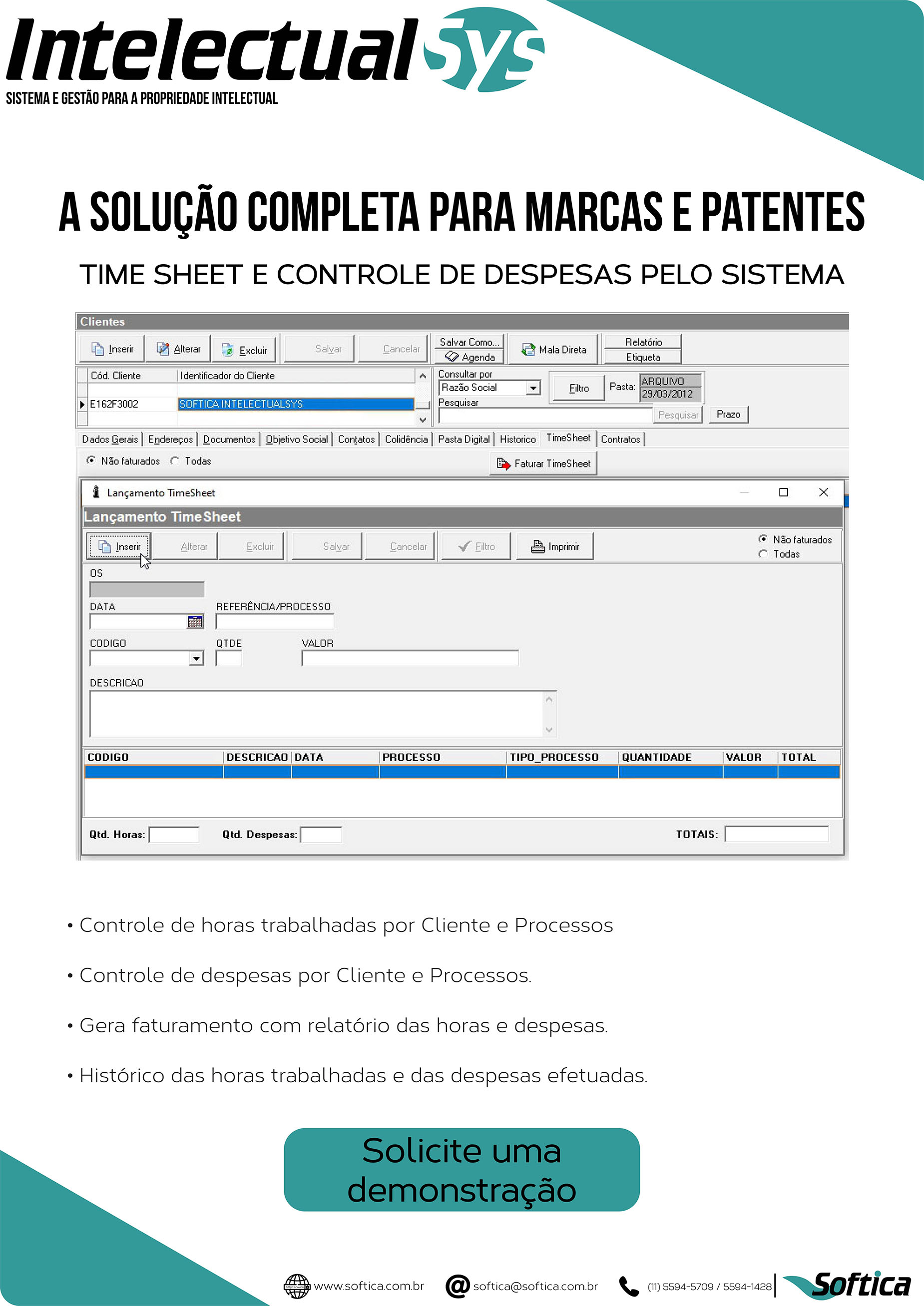 Folder ampliado de processos controlados pelo sistema do IntelectualSys
