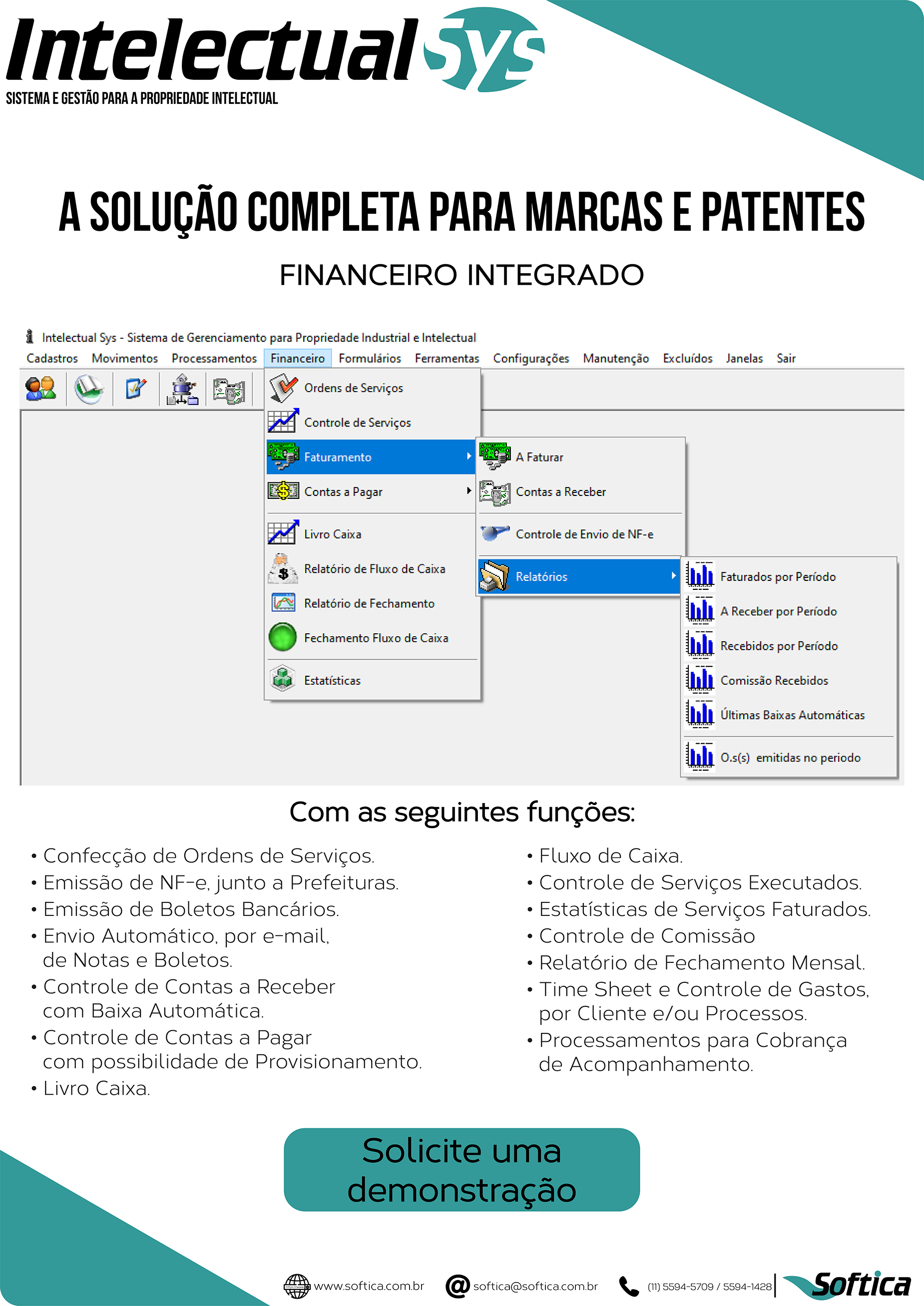 Folder ampliado do financeiro do IntelectualSys